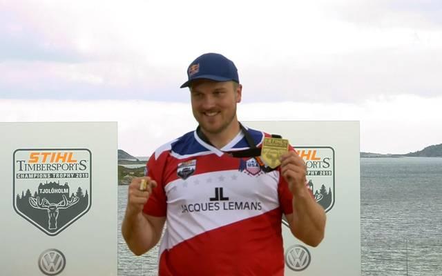 STIHL TIMBERSPORTS Champions Trophy 2019: Matt Cogar holt den Titel