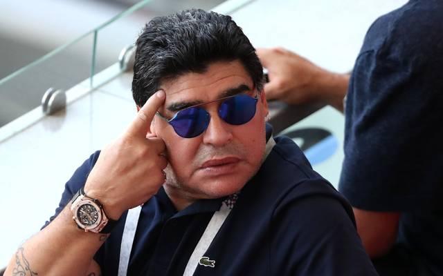 Diego Maradona war mit der Schiedsrichter-Ansetzung beim Spiel England vs. Kolumbien nicht einverstanden