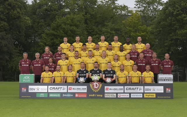 Mannschaftsfoto von Dynamo Dresden