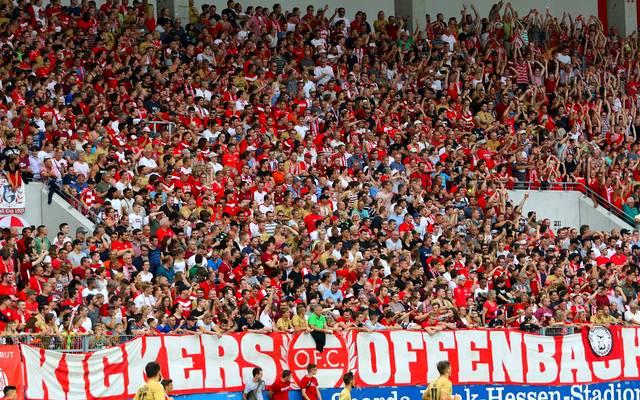 Im Fanblock der Offenbacher Kickers kam es zu unschönen Szenen