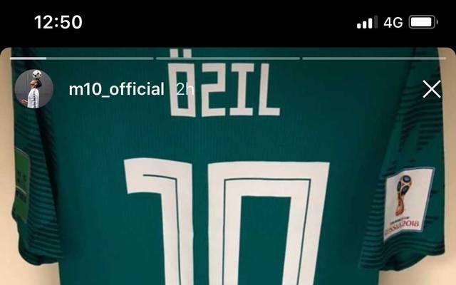 Dieses Bild postete Mesut Özil am Mittwoch bei Instagram