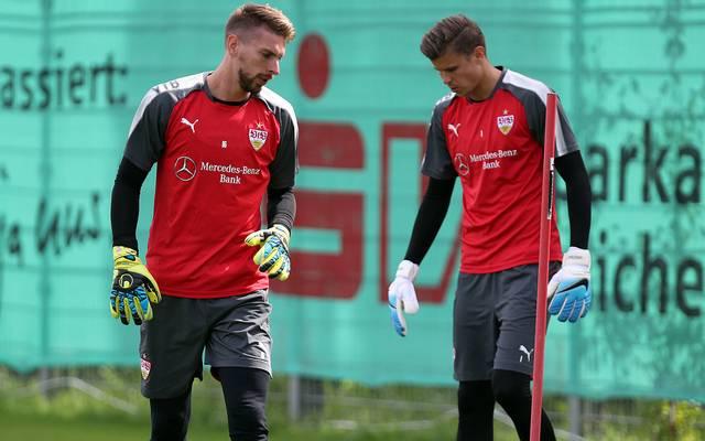 Ron-Robert Zieler und Mitch Langerak im Training des VfB Stuttgart