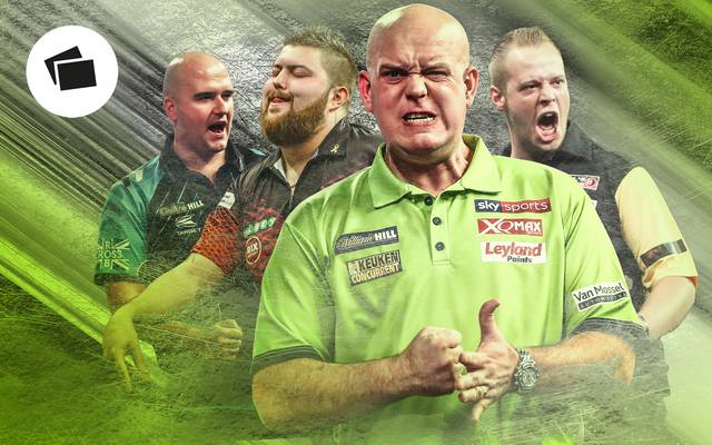 Michael van Gerwen (2.v.r.) ist Topfavorit in der Premier League 2019