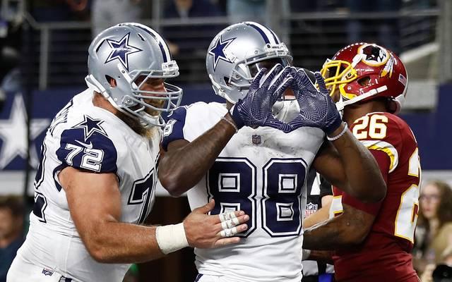 Dez Bryant von den Dallas Cowboys bejubelt seinen Rekord-Catch