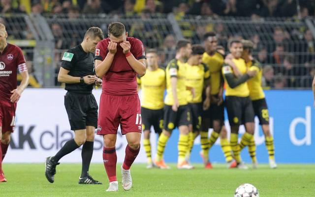 Der 1. FC Nürnberg verliert gegen Dortmund mit 0:7
