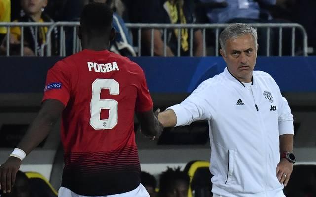 Paul Pogba wurde von ManUnited-Trainer Jose Mourinho als Vizekapitän abgesetzt