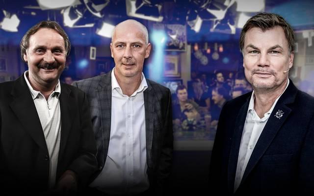 Thomas Helmer begrüßt Peter Neururer und Mario Basler im Fantalk zum Champions League-Abend