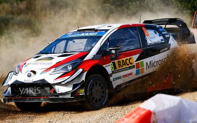 Ott Tänak geht bei der Rallye Katalonien als Führender in das Wochenende