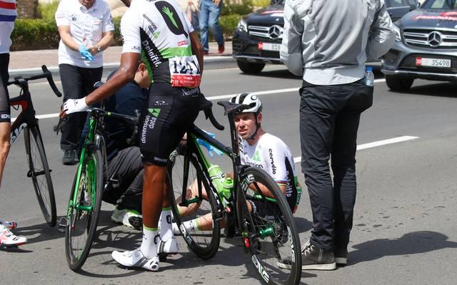 Mark Cavendish stürtze auch bei der Abu Dhabi Tour im Februar