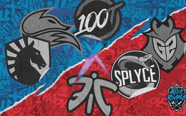 Diese Teams treffen im Zuge des Rift Rivals 2018 aufeinander: Team Liquid, Echo Fox, 100 Thieves (NA LCS) und Fnatic, Splyce sowie G2 Esport (EU LCS)