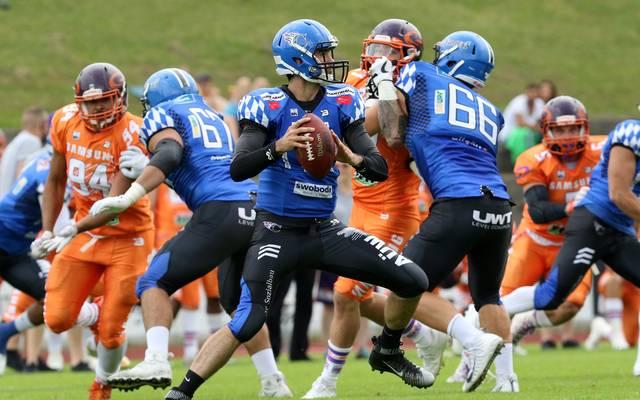Die Allgäu Comets um Quarterback Justin Sottilare wollen den Unicorns die Party vermiesen