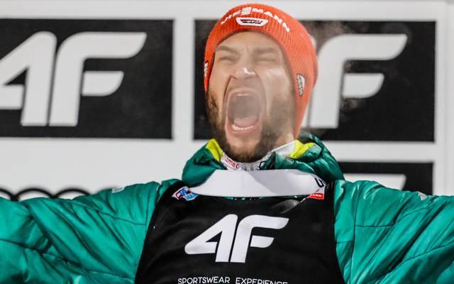 Markus Eisenbichler sprang beim Skifliegen in Obersdorf aufs Podest