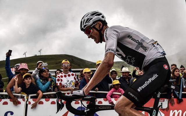 Chris Froome liegt nach der 17. Etappe nur noch auf Platz drei der Gesamtwertung