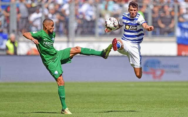 Sidney Sam erzielte die Bochumer Führung gegen Duisburg, ehe er später vom Platz flog