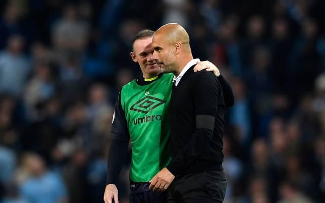 Wayne Rooney und Pep Guardiola
