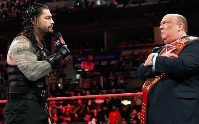 Nach WWE WrestleMania 34 keine Gegenspieler mehr? Roman Reigns (l.) und Paul Heyman