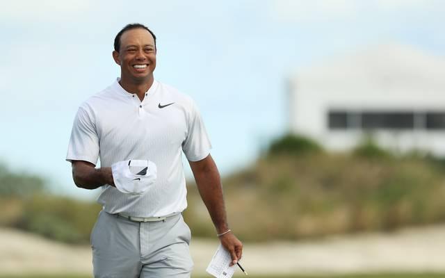 Tiger Woods ist mit seiner Leistung bei seinem Comeback sichtlich zufrieden