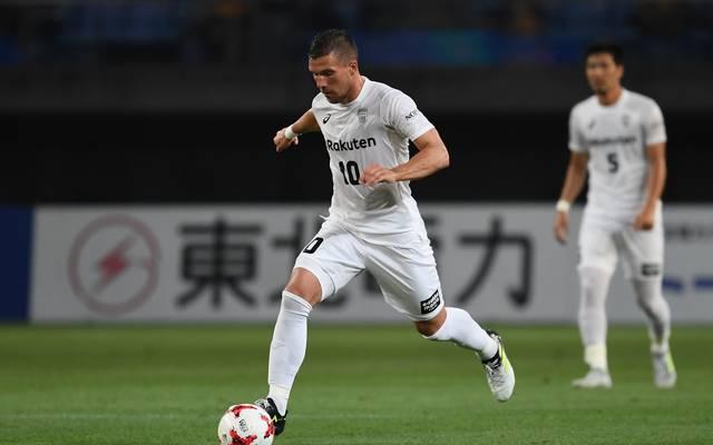 Lukas Podolski spielt für Vissel Kobe in Japan