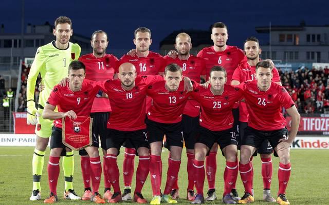 Mannschaftsfoto von Albanien