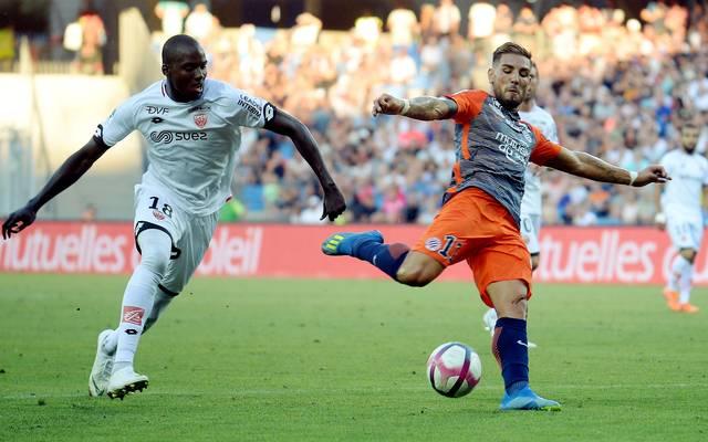 Andy Delort (rechts) spielt in der Ligue 1 für HSC Montpellier