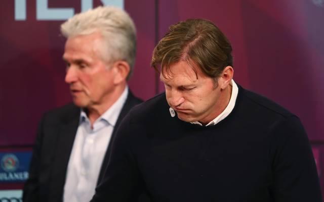 Ralph Hasenhuettl (r.) mit dem aktuellen Bayern-Trainer Jupp Heynckes