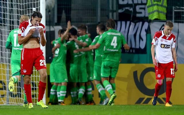 Rot-Weiss Essen gegen Borussia Moenchengladbach im DFB Pokal