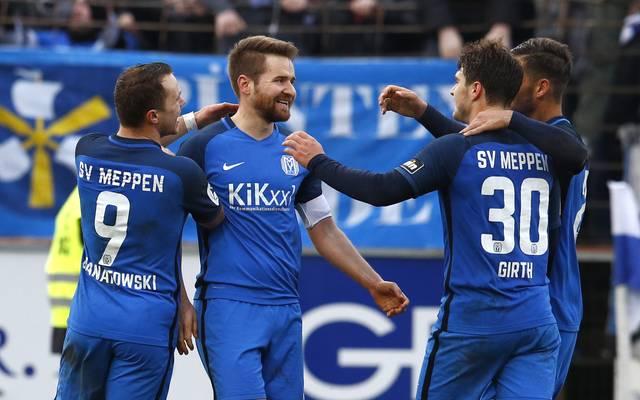 Der SV Meppen bezwang in der 3. Liga die SG Sonnenhof Großaspach