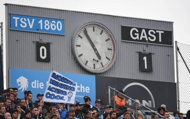 1860 München beklagt Diebstahl der Ziffernblätter an der Anzeigetafel