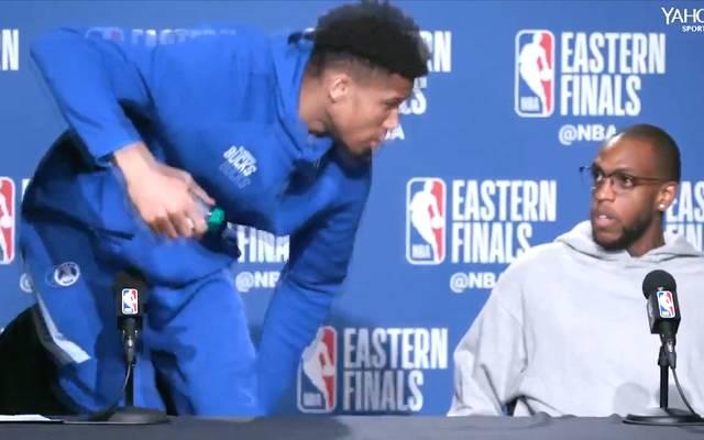 NBA: Giannis Antetokounmpo verlässt PK nach Playoffs-Aus