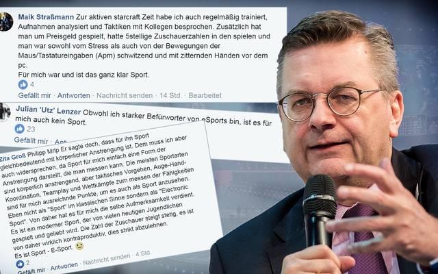 Die Facebook-Kritik richtet sich gegen die Aussagen von DFB-Präsident Reinhard Grindel