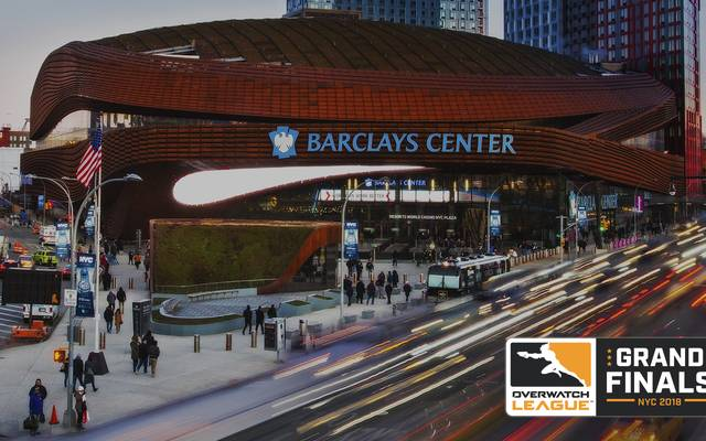 Paris tritt ab sofort in der Overwatch League an - London Spitfire gewann hier die erste Season im Barclays Center, New York