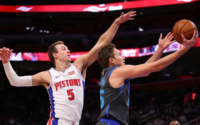 Dallas Mavericks v Detroit Pistons Die Dallas Mavericks kontrollierten das Spiel gegen die Detroit Pistons lange. Am Ende fehlte die Kraft