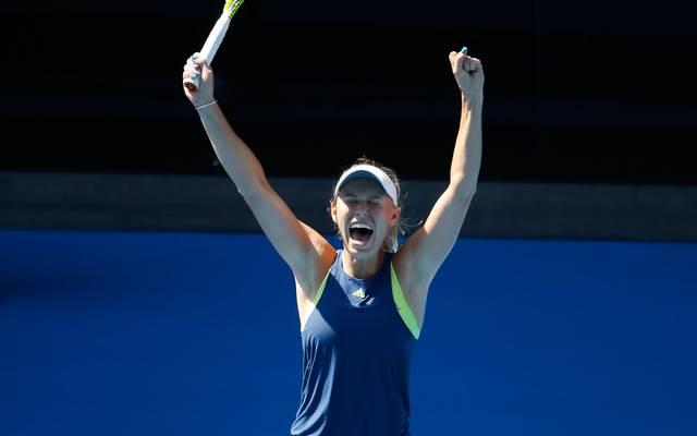 Caroline Wozniacki steht zum ersten mal in einem Finale bei einem Grand-Slam-Turnier