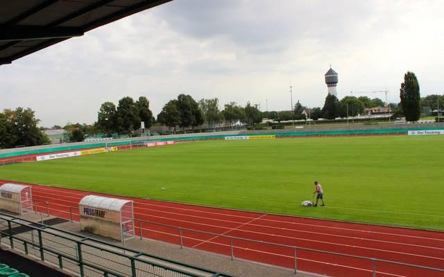 Das Kehler Rheinstadion ist bereit für den Pokalkracher zwischen Linx und Nürnberg