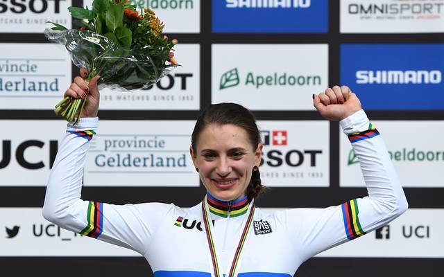 Miriam Welte gewann mit ihrer neuen Partnerin Emma Hinze die Bronzemedaille