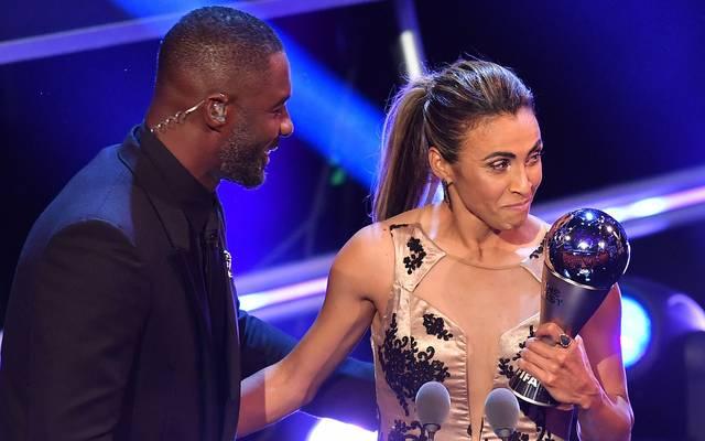 Marta wurde zum sechsten Mal als Weltfußballerin ausgezeichnet