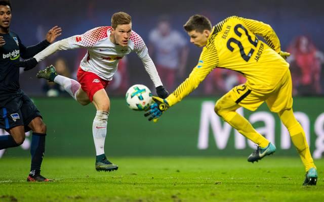 Marcel Halstenberg verletzte sich unmittelbar nach seinem Tor gegen Hertha BSC