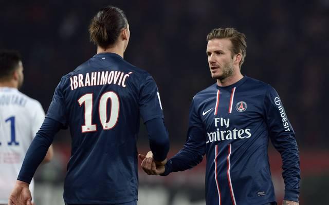Zlatan Ibrahimovic löst Wettschulden nach Wette mit David Beckham ein