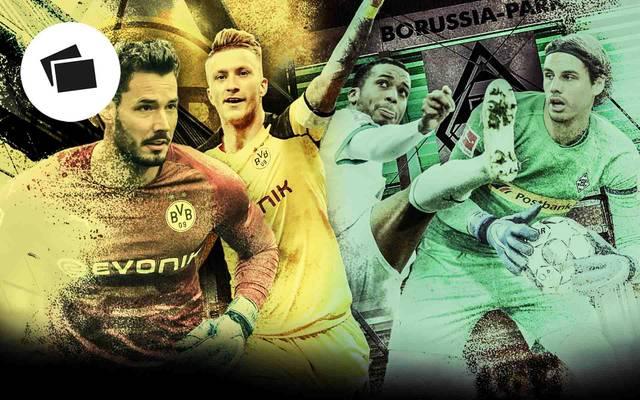 Die Borussen-Teams aus Dortmund und Mönchengladbach grüßen derzeit in der Bundesligatabelle von oben