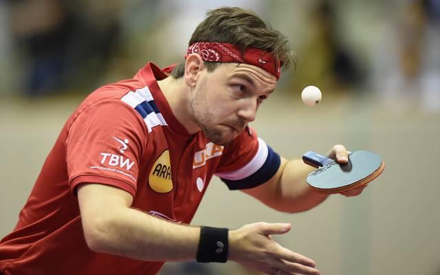 Tischtennis: Timo Boll bei der Deutschen Meisterschaft in Wetzlar. Timo Boll wurde in Wetzlar zum 13. Mal deutscher Meister im Einzel
