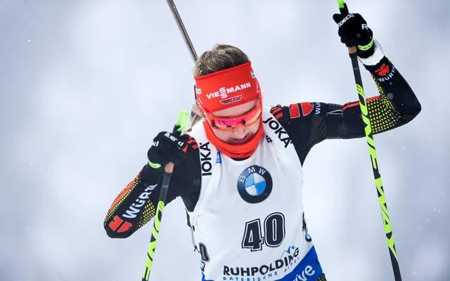 Franziska Preuß verzichtet auf einen Start bei der kommenden Biathlon-WM