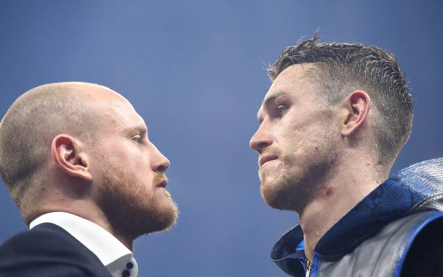 Callum Smith (r.) und Georges Groves kämpfen in Dschidda um den Titel