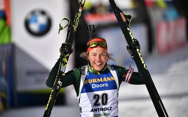 Laura Dahlmeier ist auch bei der Biathlon-WM 2019 in Östersund der große deutsche Trumpf