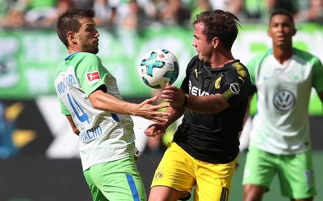 Mario Götze (r.) feierte sein Pflichtspiel-Comeback beim BVB