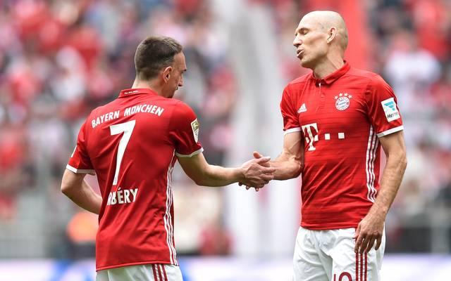 Franck Ribery (l.) und Arjen Robben stehen in der Startelf der Bayern