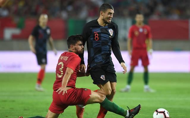 Kroatien (r.: Mateo Kovacic) war in Portugal in Führung gegangen