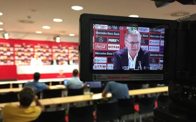 Der VfB Stuttgart stelle Michael Reschke offiziell vor