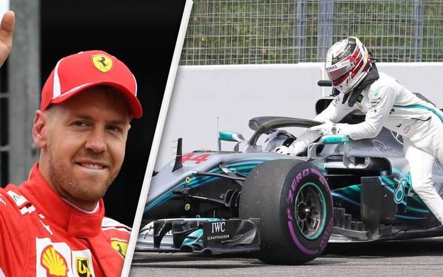 Sebastian Vettel bejubelt seine Pole-Position, Lewis Hamilton erlebt ein Desaster