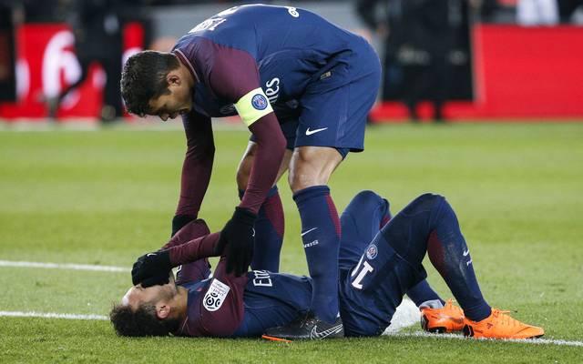 Neymar verletzte sich in der Partie gegen Marseille