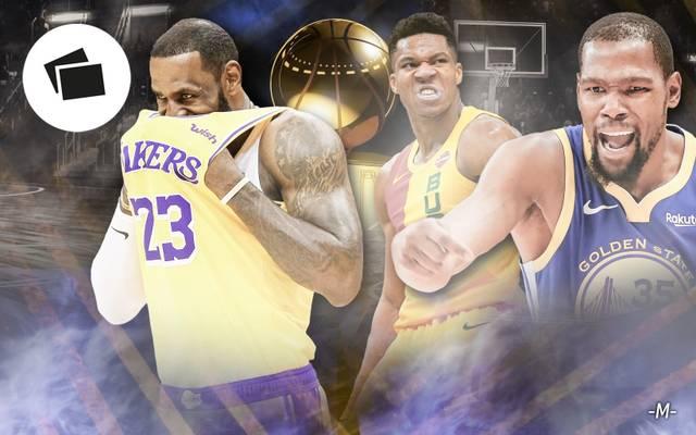 Die Playoffs könnten ohne LeBron James (l.) stattfinden